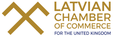 The official logo of the Latvian Chamber of Commerce for the United Kingdom